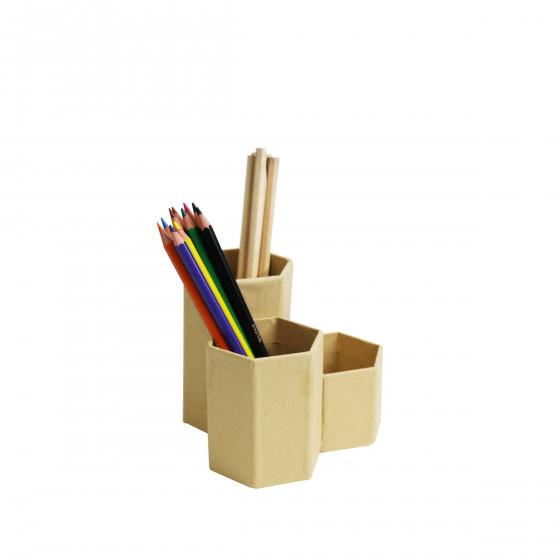 Pot à crayons 3 compartiments
