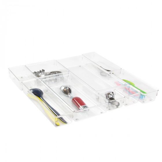 Organisateur L rectangulaire en acrylique pour tiroirs