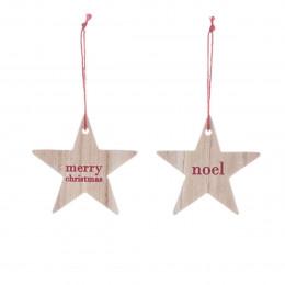 2 étoiles en bois