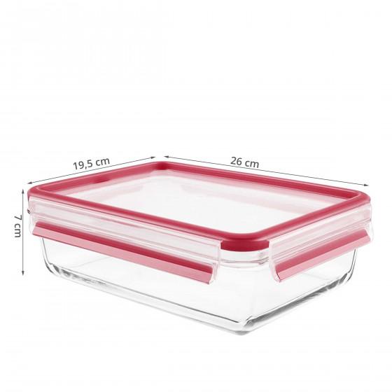 Boîte alimentaire en verre 2 litres hermétique. Taille L (2 litres)