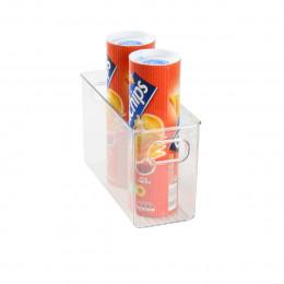 Organisateur rectangulaire S de réfrigérateur ou placard en plastique transparent