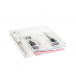 Range-couverts en acrylique à 5 compartiments