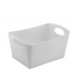 Bac de rangement gris en cellulose