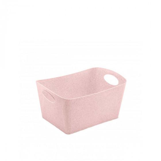 Bac de rangement rose en matière recyclable