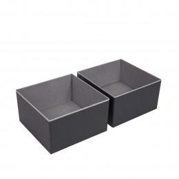 Séparateurs de tiroir en carton gris et noir. Taille M