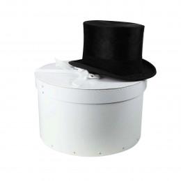 Boîte à chapeaux en carton blanc (M)