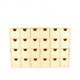 Calendrier de l'Avent en bois 24 tiroirs