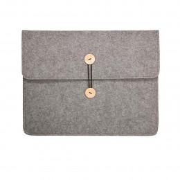 Pochette en feutre gris