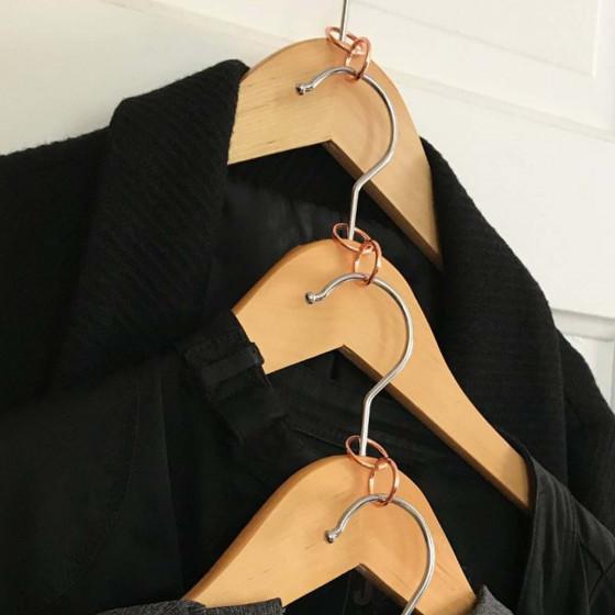 4 anneaux gain de place pour cintres