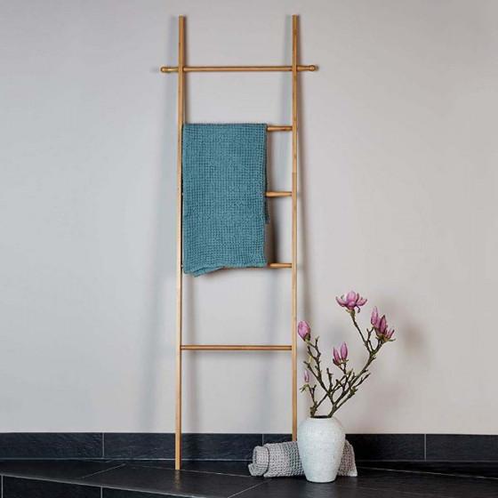 Echelle porte serviettes en bambou