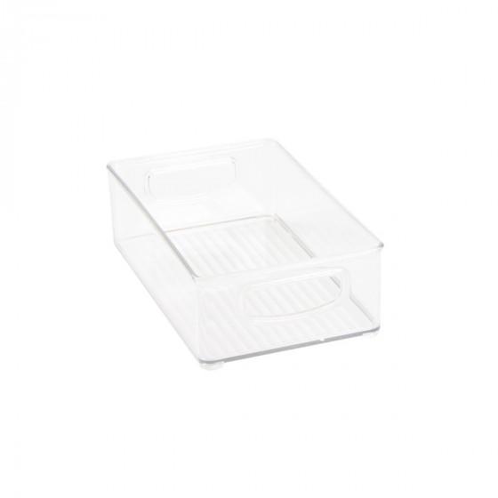 Bac en plastique M transparent et empilable pour organiser placards et tiroirs