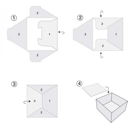 Rangement en carton pour tiroir de chambre