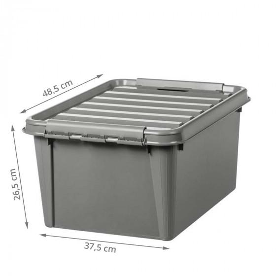 Boîte de rangement en plastique recyclé 32 litres
