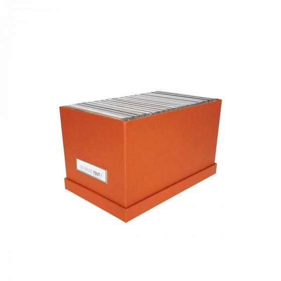 Boîte à CD en carton orange