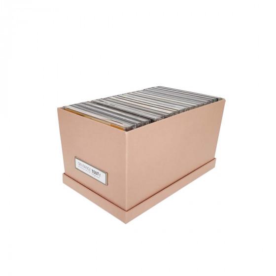 Petite boîte de rangement en carton rose pastel