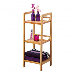 Etagère de salle de bain en bambou