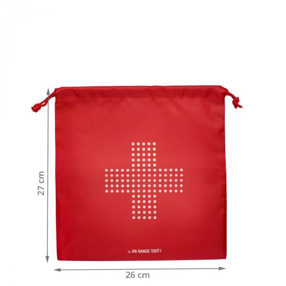 Pochon rouge pour pharmacie