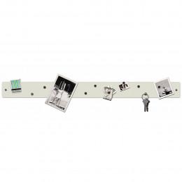Barre magnétique murale blanche avec 12 aimants fins et puissants