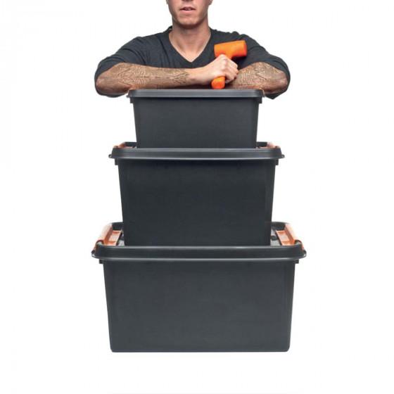 Boîte de rangement incassable 14 litres