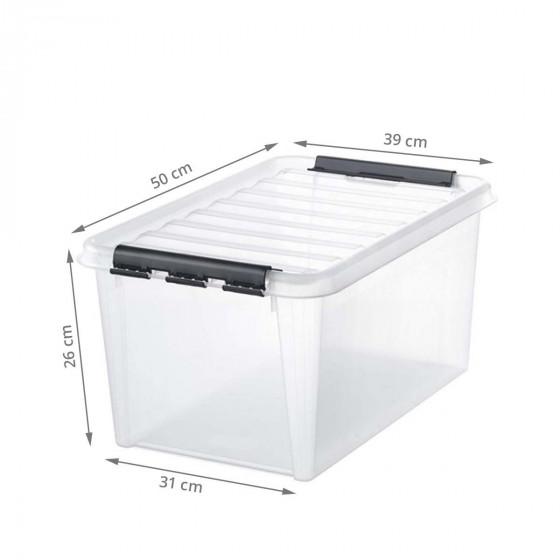 Boîte de rangement transparente 32 litres