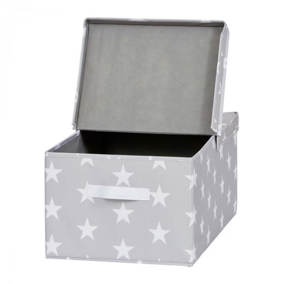 Grande boîte de rangement en tissu avec étoiles