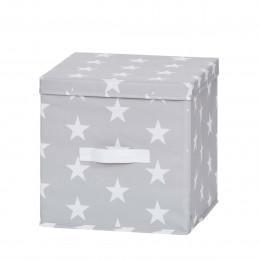Cube de rangement en tissu avec couvercle