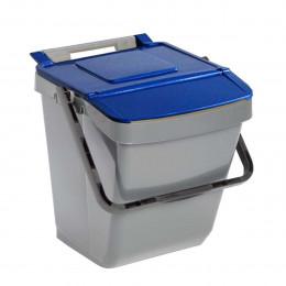 Poubelle de tri sélectif bleue 30 litres