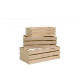 3 mini cagettes en bois