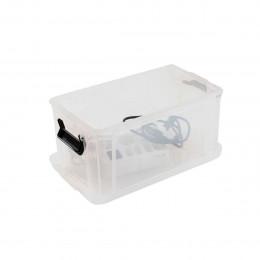 Boîte en plastique translucide avec 2 poignées