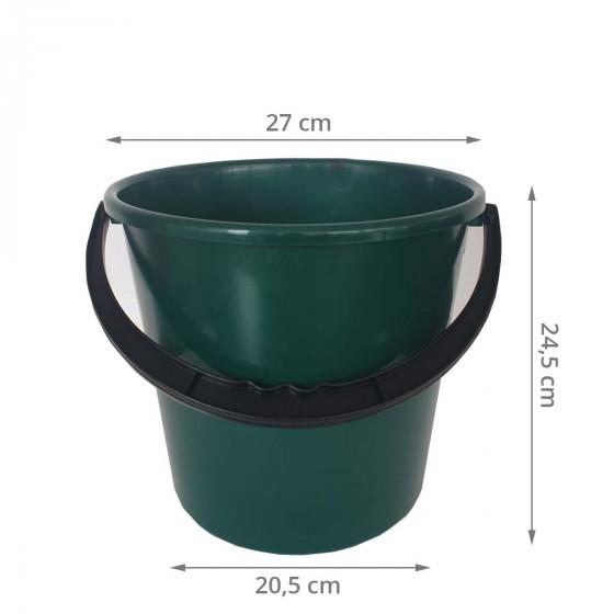 Seau de 10 litres en plastique recyclé