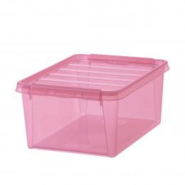 Boîte de rangement en plastique rose 14 litres
