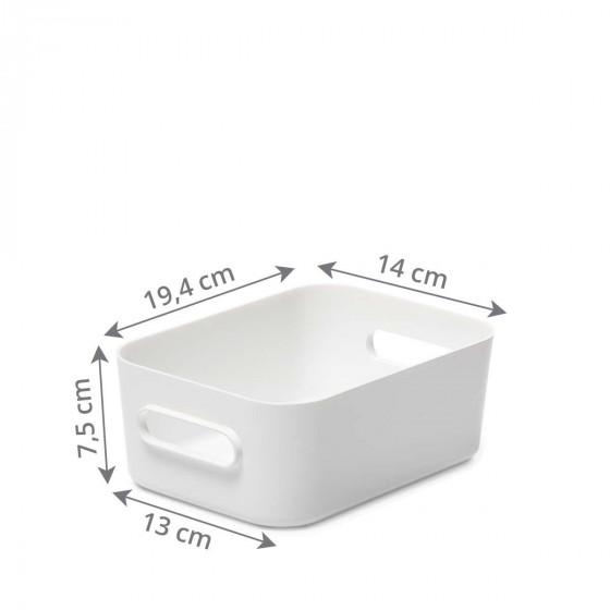 Bac de rangement blanc S