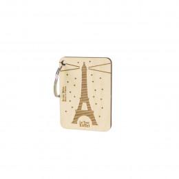 Porte clé en bois Tour Eiffel
