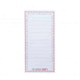 Bloc notes liste de course