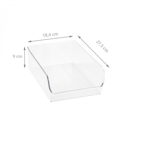 Organisateur de placard M en plastique transparent