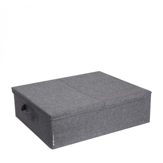 Grande boîte de rangement plate en tissu