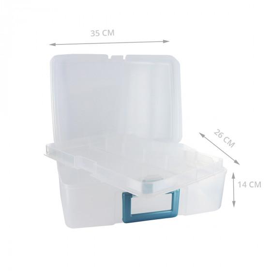 Mallette en plastique à compartiments