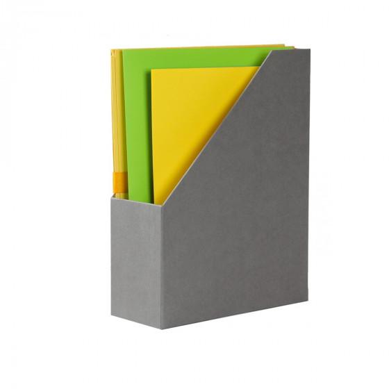 Range-dossiers en carton gris flanelle
