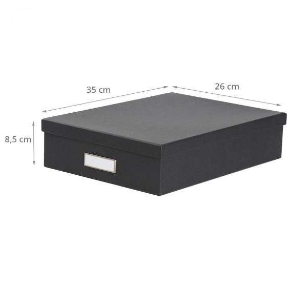 Boîte A4 en carton gris anthracite