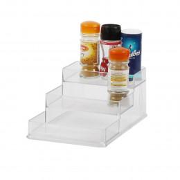 Etagère à épices en plastique transparent pour placard. Taille M