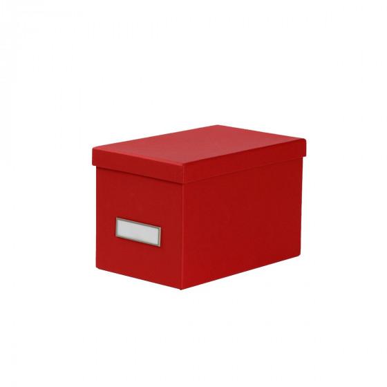 Boîte à CD en carton rouge