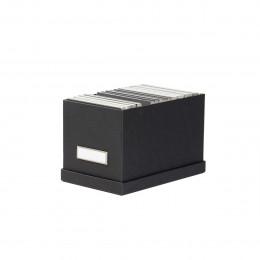 Boîte à CD en carton gris anthracite