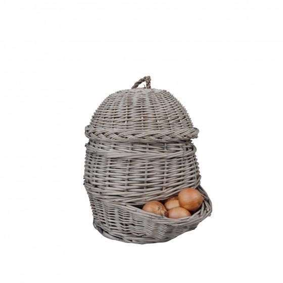 Panier en osier à oignons ou pommes de terre