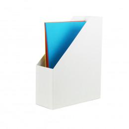 Range-dossiers en carton blanc