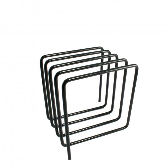 Porte-revues et courriers en métal gris noir