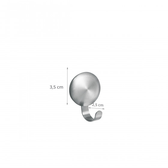 3 crochets adhésifs en métal. Diamètre 3,5 cm