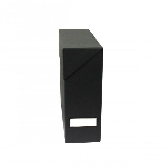 Boîte de classement en carton gris anthracite