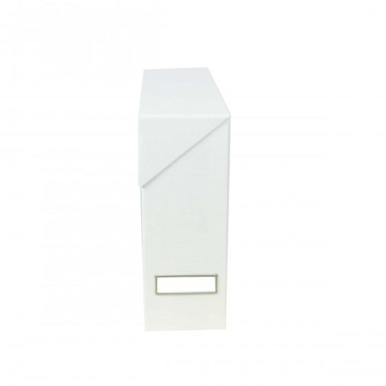 Boîte de classement en carton blanc