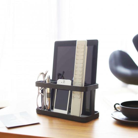 Vide poche design noir à compartiments
