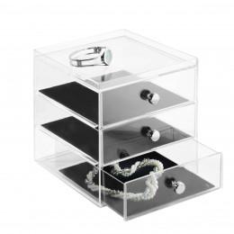 Boîte à bijoux à 3 tiroirs
